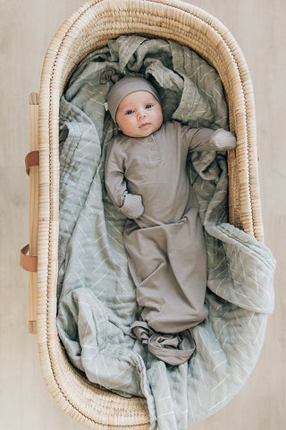 softest knot gown by mebie baby