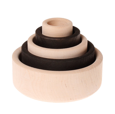 grimms monochrome stacking bowls