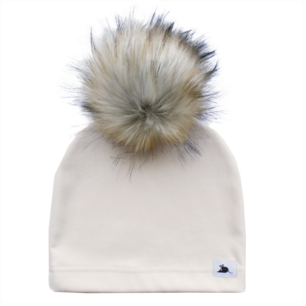 luxe pom toque by lille mus - bamboo fleece