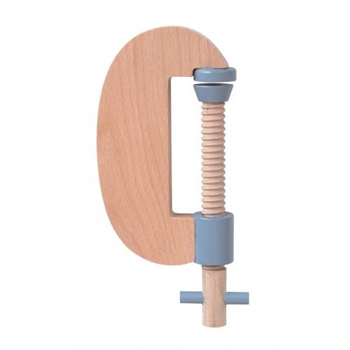 wooden carpenter's c clamp toy