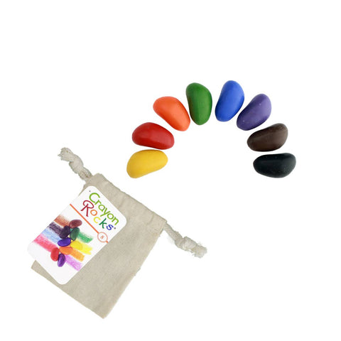 natural crayon rocks 8 colours in a bag