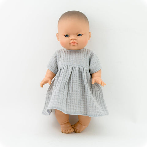 capsule muslin doll dress for 38/34/32 cm doll