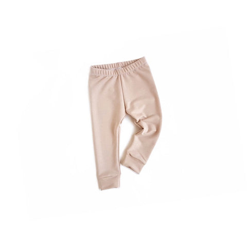 nude bamboo french terry leggings