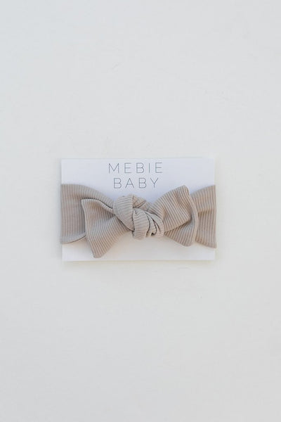 new organic ribbed head wrap by mebie baby