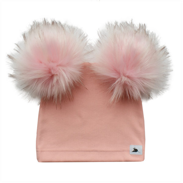 luxe limited edition double pom toque