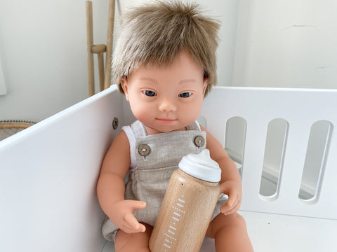NEW miniland doll boy with Down Syndrome 38 cm
