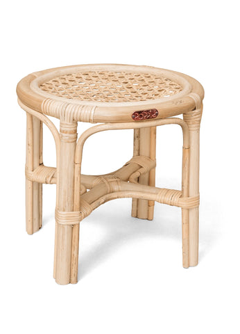 coming soon | poppie rattan mini table