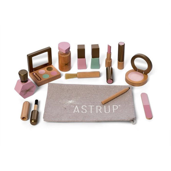 modern wooden make up set