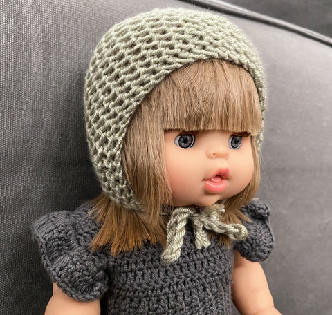 miniland doll knit bonnet