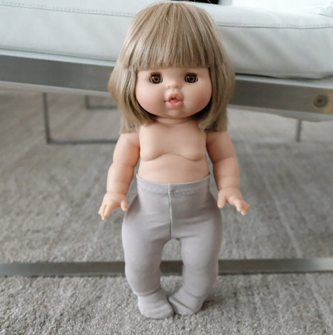grey cotton tights for 38/34/32 cm doll
