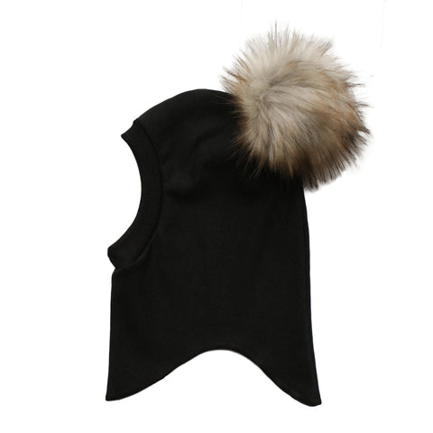 NEW bamboo fleece balaclava with pom
