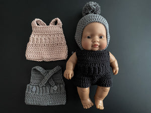 capsule clothing doll romper - 21 cm