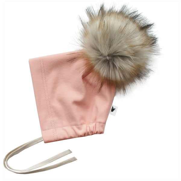 bamboo fleece pom bonnet