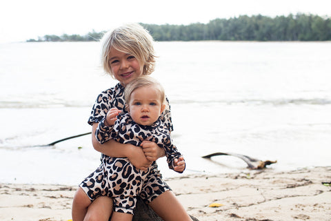 leopard shark upf 50+ infant swimsuit