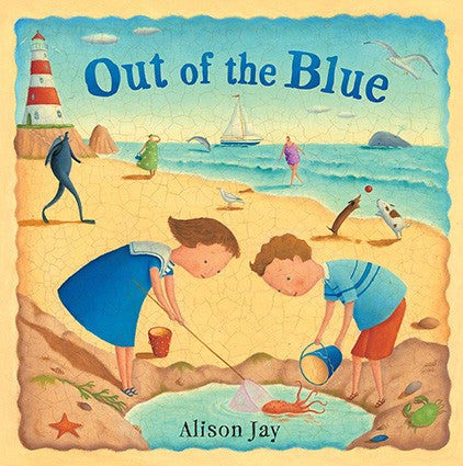 out of the blue hardcover wordless book