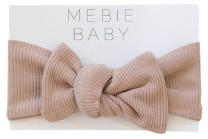 organic ribbed head wrap by mebie baby