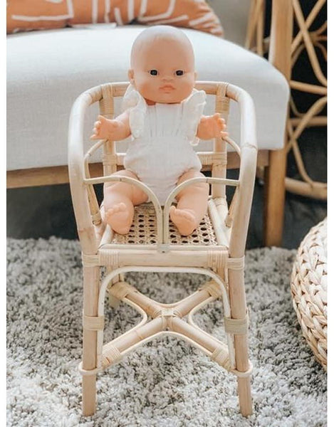 coming soon | poppie rattan doll high chair
