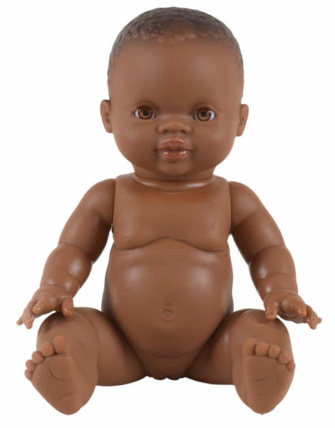 paola reina 34 cm dark skin, light eyes ruby doll in pyjama set