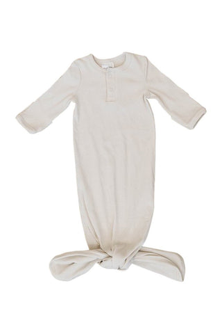 organic ribbed knot gown by mebie baby