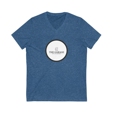 The Garage Logo Short Sleeve V-Neck Tee