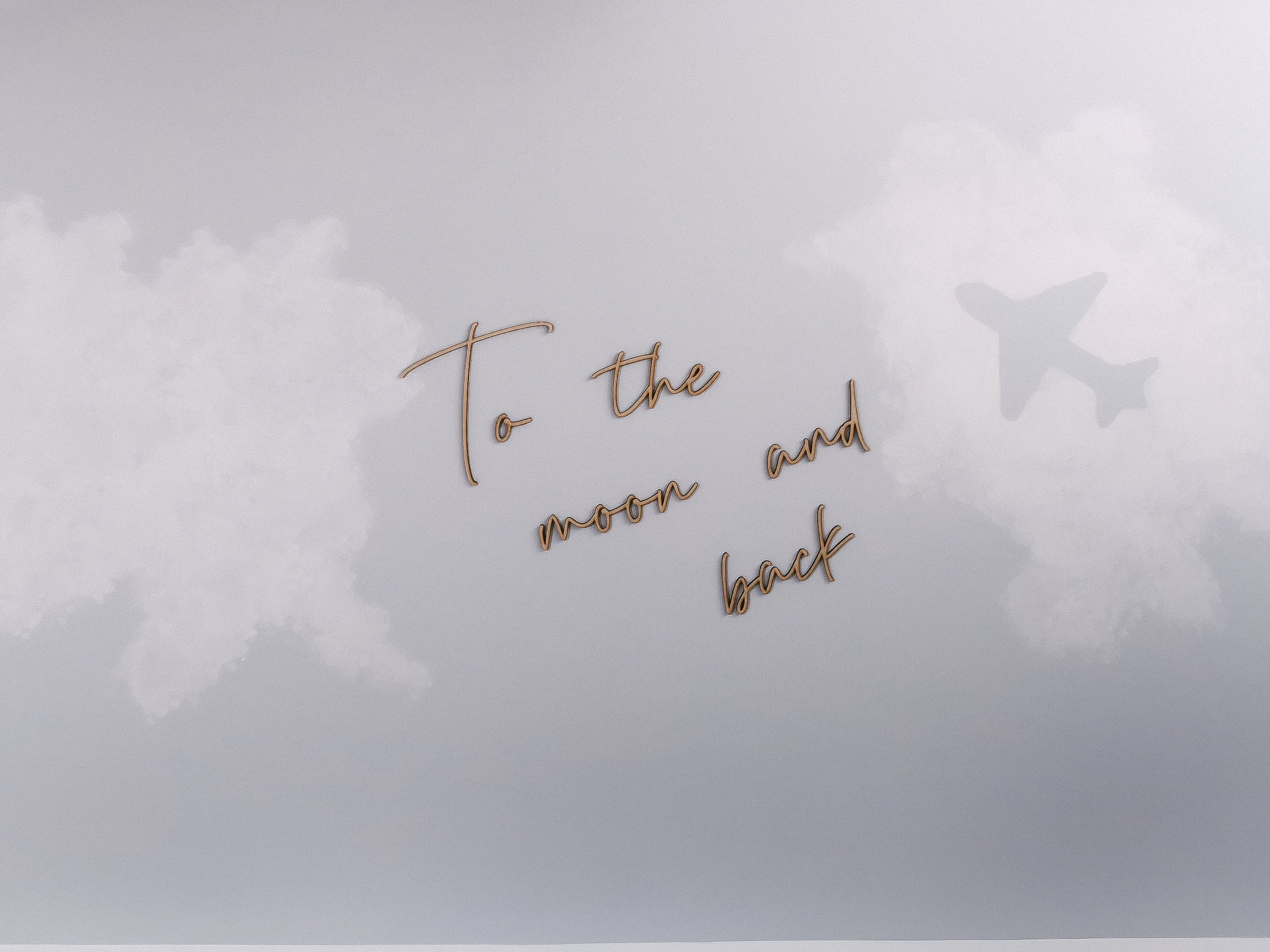 """To the moon and back"" Wooden Wall Quote"