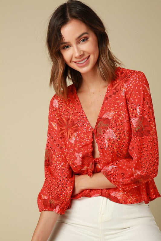 Sweet Rose - Floral Print Top