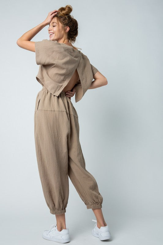 Every Bit As Cool - RELAXED OPEN BACK JUMPSUIT
