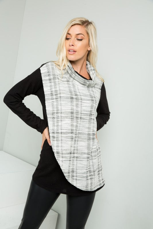 "The ""Sidney"" Cowl Neck Layered Top"