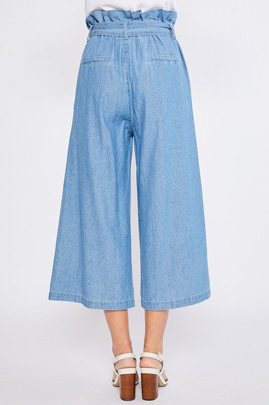 Smiles for Days - BELTED PAPERBAG CULOTTES