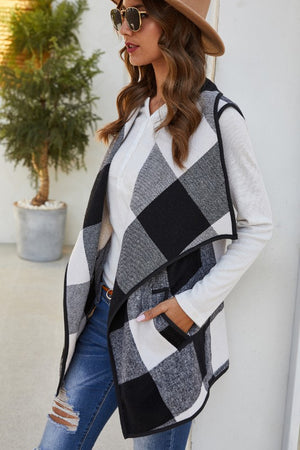 Vest of the Best - Plaid Oversized Vest