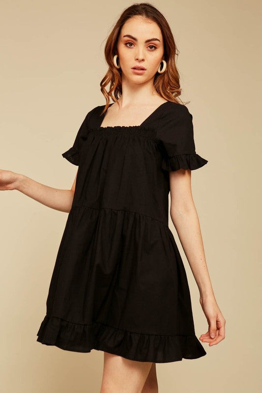 Always A Good Time - Black Flare Dress