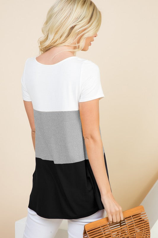 Something Familiar - Color Block Top