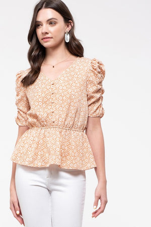 Daydreaming in Floral - Peplum Top