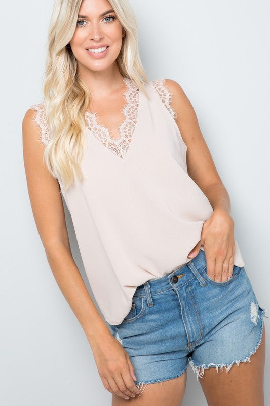 Seaside Sunset - Lace Top