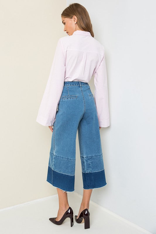 She Found a Way - Denim Culotte Trousers