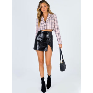 Down in Hissstory - Vegan Leather Skirt