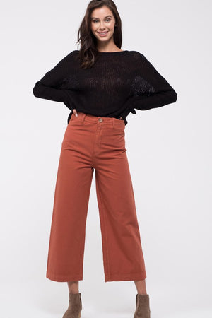 State the Facts - Solid Wide Leg Pants
