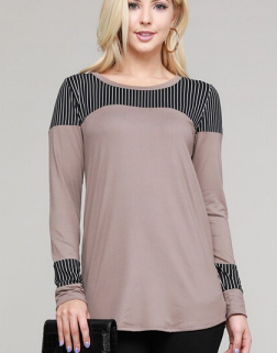 "The ""Sasha"" Striped  Long Sleeve Tee"