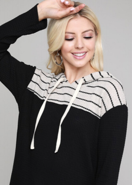 Cozy & Casual  Hooded Pullover Top