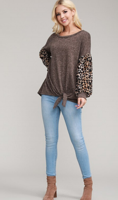 "The ""Skye"" Statement Sleeve Top"