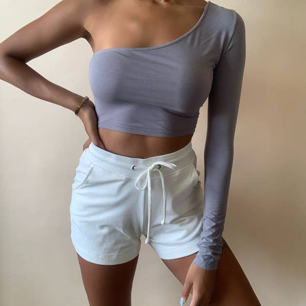 Intertwined - One Shoulder Crop Top