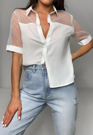 Outside of the Box - Boxy Button Up Blouse