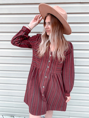 Fall Into Fall - Relaxed Button Down Dress