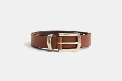 Metal Tip Leather Belt
