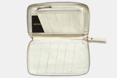 Billetera Zip White