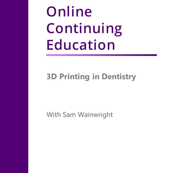 3D Printing In Dentistry