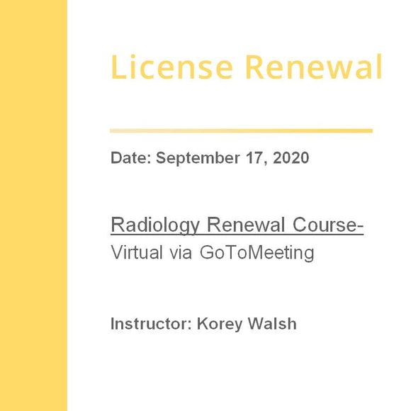 Radiology Renewal
