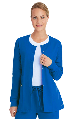 سكرب جاكيت نسائي~Women's Snap Front Scrub Jacket