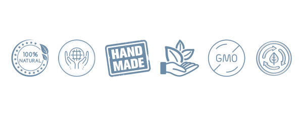 The Cove Tea Co - Product Guarantees: Handmade, Organic, 100% Natural, GMO free, Sustainable, Free Trade, Eco-Friendly & Compostable