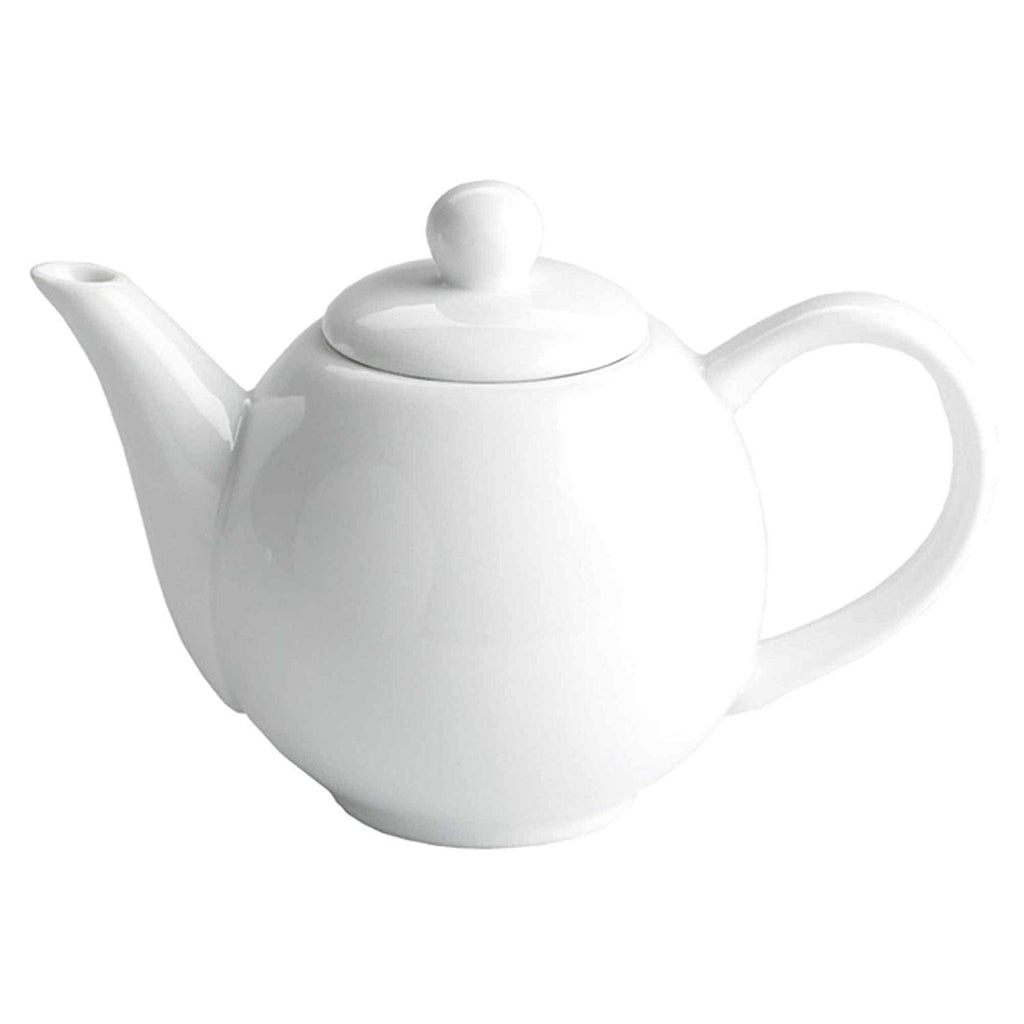 Small Gloss White Teapot - 2 cups - The Cove Tea Company - Edmonton, Alberta